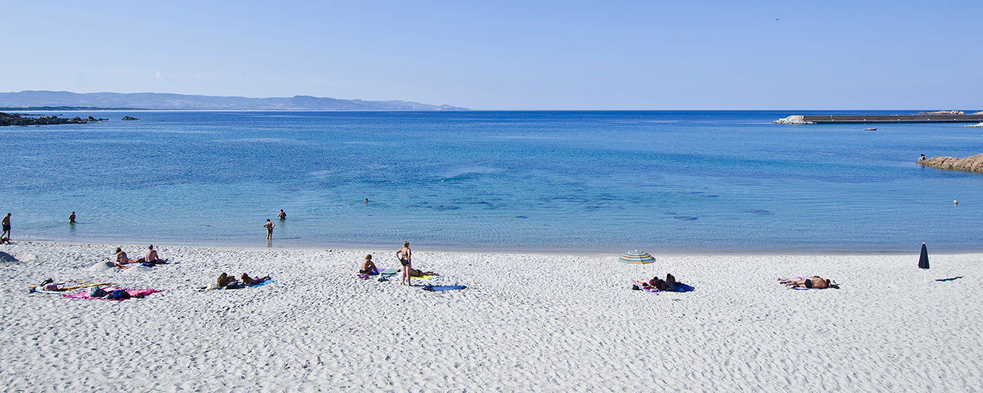 white powder sand beach at Isola Rossa, northern Sardinia