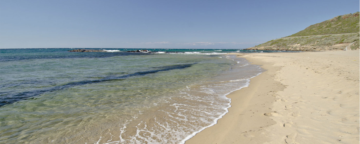 a beach at the north Sardinian coast
