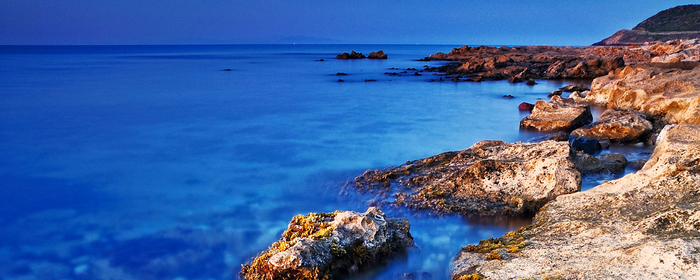 north Sardinian coastline, rocks and sea